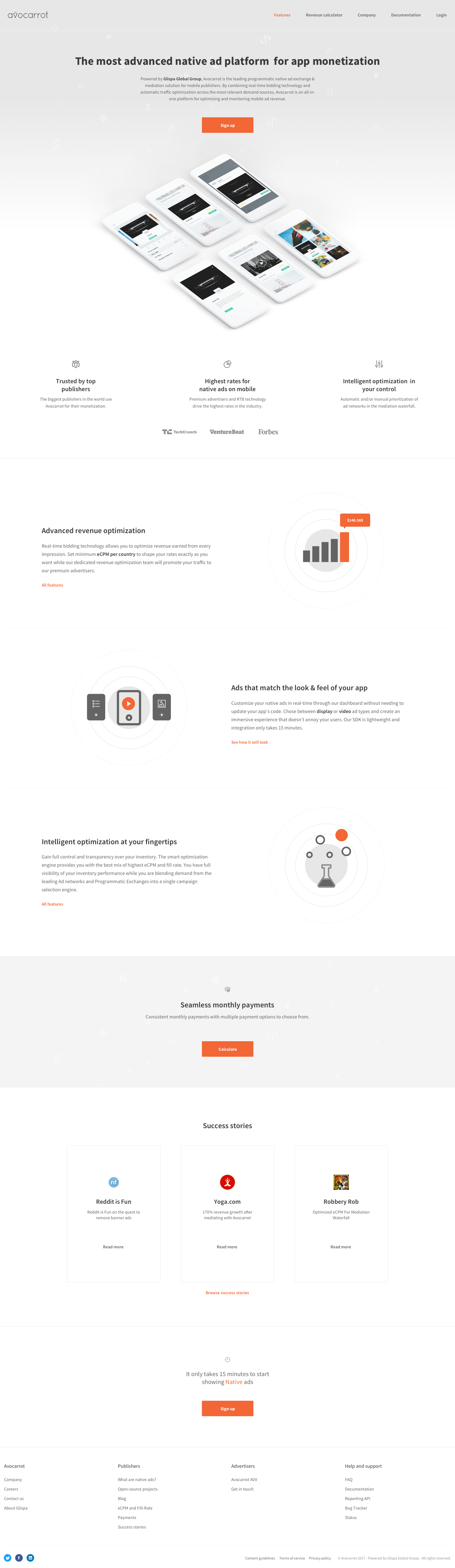 Project Avocarrot - Landing page 1