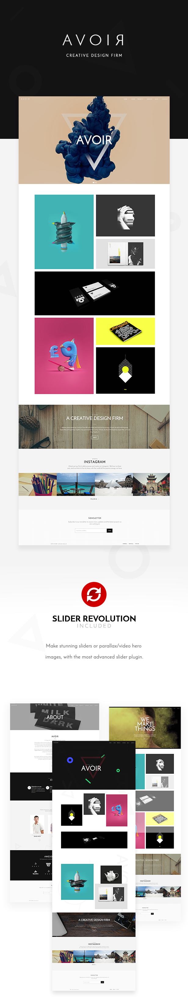 AVOIR | Creative Portfolio Bootstrap Template - 2