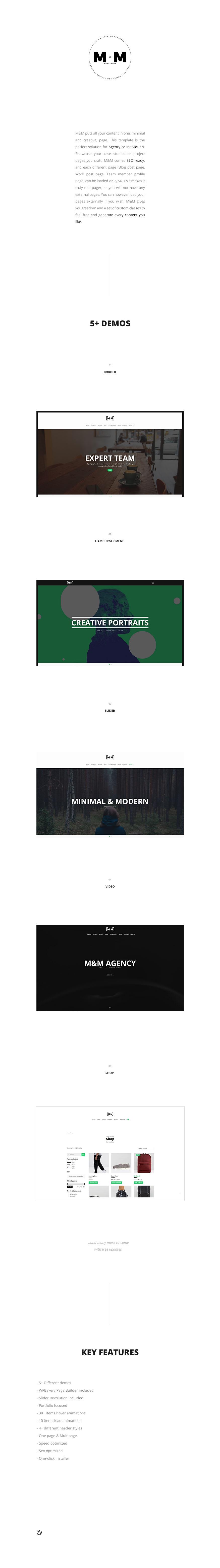 M&M -- Minimal & Creative Responsive Portfolio - 1
